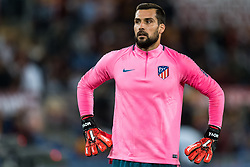 goalkeeper Miguel Angel Moya of Club Atletico de Madrid during the UEFA Champions League group C match match between AS Roma and Atletico Madrid on September 12, 2017 at the Stadio Olimpico in Rome, Italy.