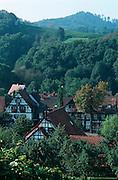 Deutschland, Germany,Baden-Wuerttemberg.Schwarzwald.Sasbachwalden, Fachwerkhäuser.Sasbachwalden, timber frame houses...