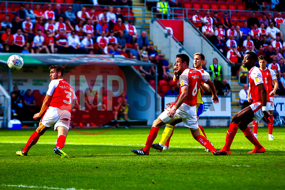 Jacques Maghoma of Birmingham City shoots at goal to bring Birmingham City level - Mandatory by-line: Ryan Crockett/JMP - 22/04/2019 - FOOTBALL - Aesseal New York Stadium - Rotherham, England - Rotherham United v Birmingham City - Sky Bet Championship