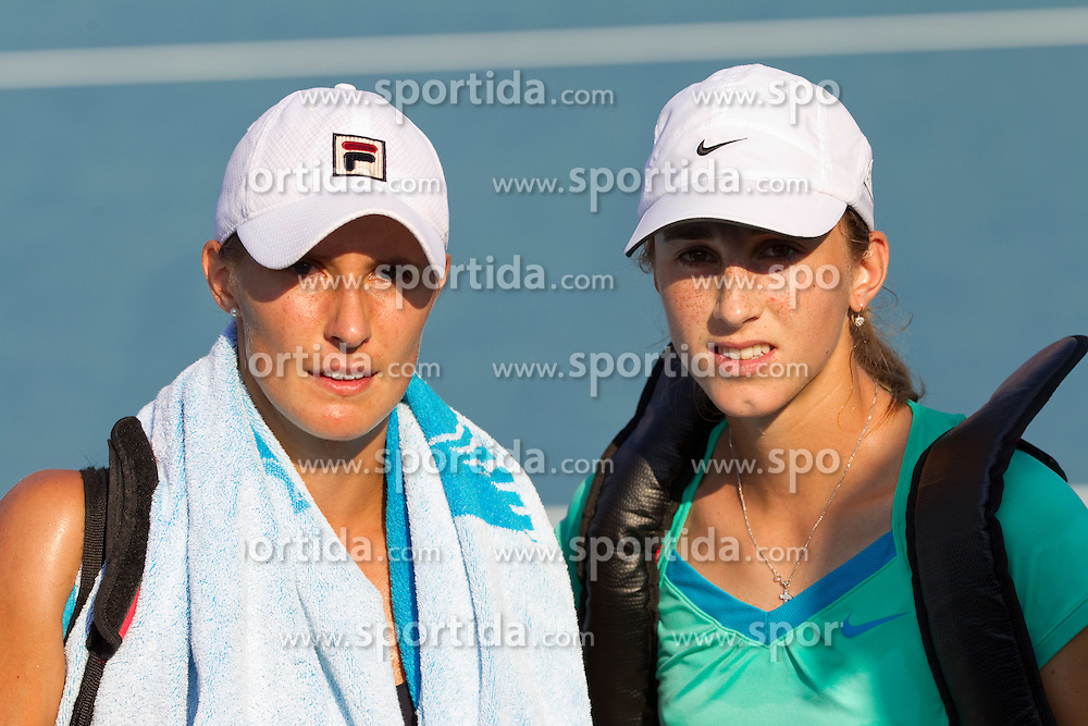 Polona Hercog of Slovenia and Petra Martic of Croatia at 2nd Round of Doubles at Banka Koper Slovenia Open WTA Tour tennis tournament, on July 22, 2010 in Portoroz / Portorose, Slovenia. (Photo by Vid Ponikvar / Sportida)