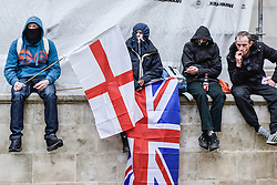 Pegida (Patriotic Europeans Against the Islamisation of the West) supporters at a rally in Whitehall, London UK Feb 2016