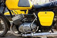 Russian motorcycle in Bahia Honda, Artemisa, Cuba.