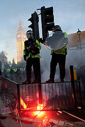 FILE PICTURE - Roundup of yesterdays Student protests..© under license to London News Pictures. 9/12/2010. On the day that MPs vote on tuition fees, 1000s demonstrated in London against a proposed rise in fees and cuts in support.