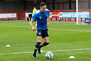 Carlisle United Midfielder Mike Jones (8) warms up before kick off during the EFL Sky Bet League 2 match between Crawley Town and Carlisle United at the Checkatrade.com Stadium, Crawley, England on 30 September 2017. Photo by Andy Walter.