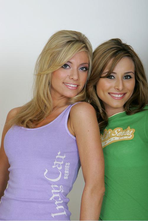 Models, Indy Car photo shoot, Phoenix, AZ USA 8/25/06