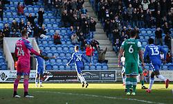 Ben Stevenson of Colchester United celebrates scoring to make it 1-0 - Mandatory by-line: Arron Gent/JMP - 08/02/2020 - FOOTBALL - JobServe Community Stadium - Colchester, England - Colchester United v Plymouth Argyle - Sky Bet League Two