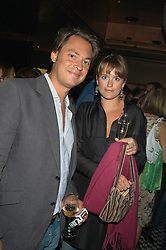 MR OLIVER BONAS and LADY KATE FORTESCUE at a party hosted by Frankie Dettori, Marco Pierre White and Edward Taylor to celebrate the launch of Frankie's Italian Bar & Grill at 3 Yeoman's Row, London SW3 on 2nd September 2004.