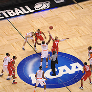 Mar 22, 2012; Boston, MA, USA; Syracuse Orangeman vs Wisconsin Badgers  during semifinals of the east region of the 2012 NCAA men's basketball tournament at TD Garden. Mandatory Credit: Michael Ivins-US PRESSWIRE
