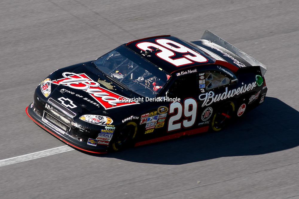 April 17, 2011; Talladega, AL, USA; NASCAR Sprint Cup Series driver Kevin Harvick (29) during the Aarons 499 at Talladega Superspeedway.   Mandatory Credit: Derick E. Hingle