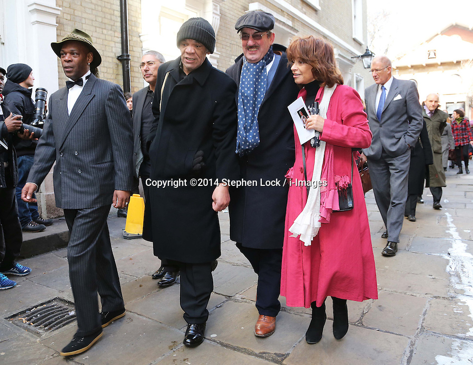 Cast members from Only Fools and Horses leaving the funeral of actor Roger Lloyd-Pack who played Trigger in the TV show,  at St.Paul's Church in  London, Thursday, 13th February 2014. Picture by Stephen Lock / i-Images