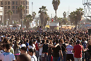 The crowd at the Tel Aviv Love Parade on the beach front October 2005