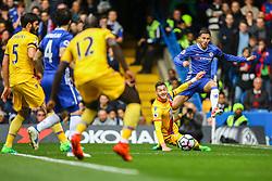 Eden Hazard of Chelsea crosses the ball into the penalty area - Mandatory by-line: Jason Brown/JMP - 01/04/2017 - FOOTBALL - Stamford Bridge - London, England - Chelsea v Crystal Palace - Premier League