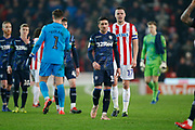 Disappointed Leeds United midfielder Pablo Hernandez (19) at full time during the EFL Sky Bet Championship match between Stoke City and Leeds United at the Bet365 Stadium, Stoke-on-Trent, England on 19 January 2019.