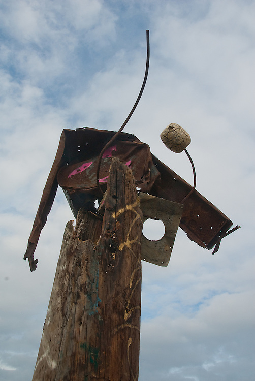 Art at the Albany Bulb, construction from found objects in the former landfill.