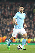 10 Sergio Kun Agüero for Manchester City during the Champions League match between Manchester City and Liverpool at the Etihad Stadium, Manchester, England on 10 April 2018. Picture by Graham Holt.