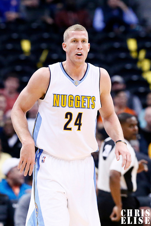 08 March 2017: Denver Nuggets center Mason Plumlee (24) is seen during the Washington Wizards 123-113 victory over the Denver Nuggets, at the Pepsi Center, Denver, Colorado, USA.