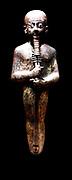Ptah statue. Third Intermediate Period, ca. 1070–712 B.C. Egypt Bronze, gold leaf, glass