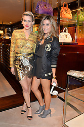 Left to right, ASHLEY ROBERTS and ZOE HARDMAN at a party to celebrate the publication of Front Roe by Louise Roe held at Ralph Lauren, 1 New Bond Street, London on 1st April 2015.