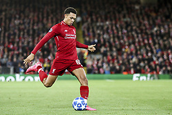 October 24, 2018 - Liverpool, United Kingdom - Liverpool defender Trent Alexander-Arnold (66) in action during the Uefa Champions League Group Stage football match n.3  Liverpool v FK Crvena Zvezda on October 24, 2018, at the Anfield Road in Liverpool, England. (Credit Image: © Matteo Bottanelli/NurPhoto via ZUMA Press)