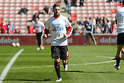 Sunderland forward Fabio Borini (9)  during the Barclays Premier League match between Sunderland and Leicester City at the Stadium Of Light, Sunderland, England on 10 April 2016. Photo by Simon Davies.