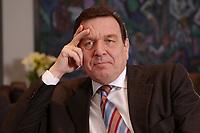 09 JAN 2002, BERLIN/GERMANY:<br /> Gerhard Schroeder, SPD, Bundeskanzler, waehrend einem Interiew, in seinem Buero, Bundeskanzleramt<br /> Gerhard Schroeder, SPD, Federal Chancellor of Germany, during an interview, in his office<br /> IMAGE: 20020109-02-012<br /> KEYWORDS: Gerhard Schr&ouml;der