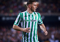 February 28, 2019 - Valencia, U.S. - VALENCIA, SPAIN - FEBRUARY 28: Joaquin Sanchez, midfielder of Real Betis Balompie looks during the Copa del Rey match between Valencia CF and Real Betis Balompie at Mestalla stadium on February 28, 2019 in Valencia, Spain. (Photo by Carlos Sanchez Martinez/Icon Sportswire) (Credit Image: © Carlos Sanchez Martinez/Icon SMI via ZUMA Press)