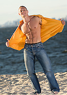 Dima Nep- Bodybuilder on Beach Posing