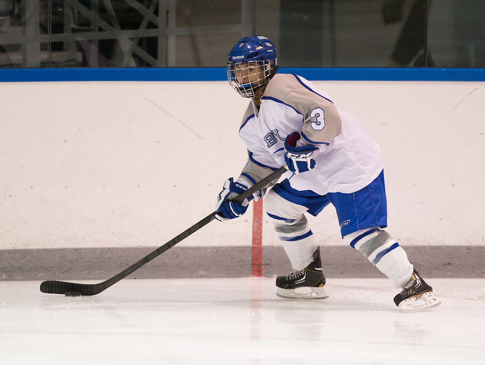 Samantha Slotnick, of Colby College, during an NCAA Division III college hockey game against Plymouth State University at Alfond Rink at Alfond Arena, Tuesday Dec. 4, 2012 in Waterville, ME. (Dustin Satloff/Colby College Athletics)