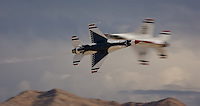 The United States Air Force Thunderbirds perform at Aviation Nation in Las Vegas, Nevada in 2007
