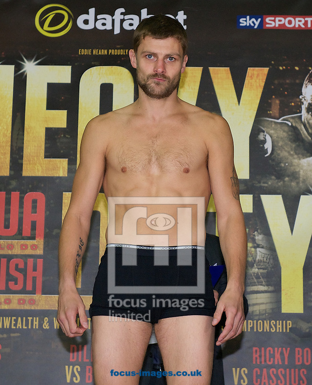 John Wayne Hibbert pictured during the Weigh In at The Reebok Fitness Club, London. Prior to the &quot;Heavy Duty&quot; event at the O2 Arena, London.<br /> Picture by Alan Stanford/Focus Images Ltd +44 7915 056117<br /> 11/09/2015
