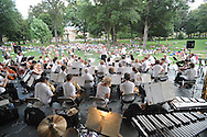 The Germantown Symphony Orchestra plays at the LOU Summer Sunset Series in the Grove in Oxford, Miss. on Sunday, June 27, 2010.
