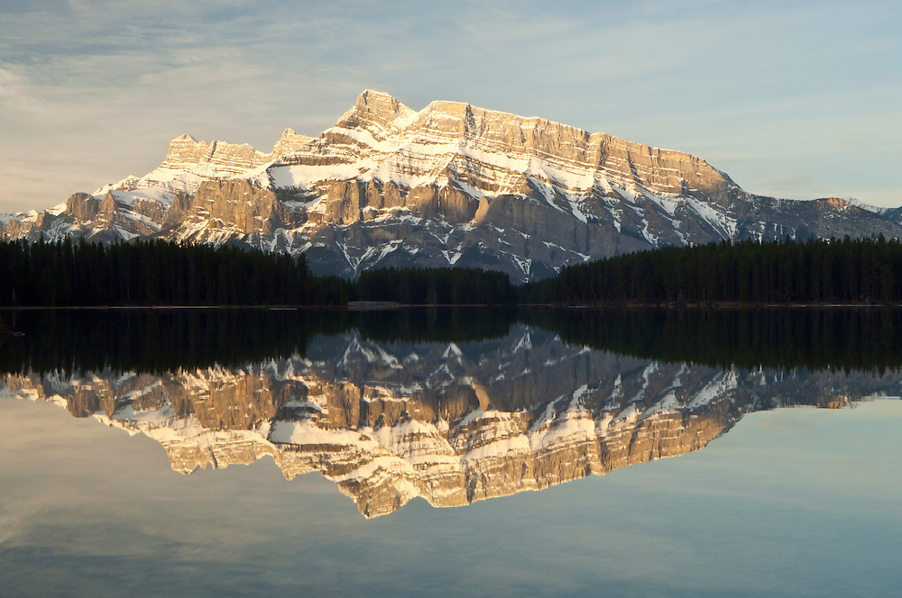 Mount Rundle from Two Jack Lake, Banff National Park, Alberta, Canada