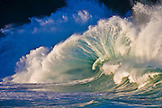There isn't anything quite as powerful in nature as a huge wave breaking at the Waimea Bay Shorebreak, on the North Shore of Oahu, Hawaii. Make a powerful statement by hanging this on your wall!