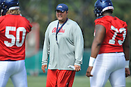 Mississippi assistant coach Matt Luke at football practice in Oxford, Miss. on Saturday, August 2, 2014.