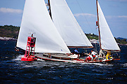 Golden Eye sailing in the Museum of Yachting Classic Yacht Regatta, race 2.