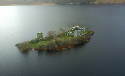 Castle Kirk Island (Hen Island) ... Granuaile's Castle on Lough Corrib, Co Galway<br />