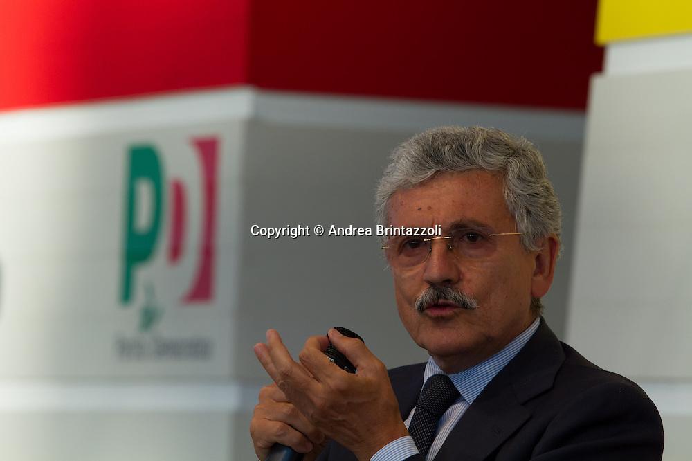 Bologna 02 Settembre 2014 - Festa dell'Unità. Dbattito: L'Europa nell'occhio del ciclone. Nella foto Massimo D'Alema