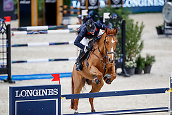 EPAILLARD Julien (FRA), Usual Suspect d'Auge<br /> Paris - FEI World Cup Finals 2018<br /> Longines FEI World Cup Jumping Final I<br /> www.sportfotos-lafrentz.de/Stefan Lafrentz<br /> 12. April 2018