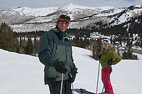 Skiers on Slopes at Ski Resort