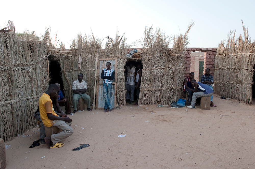 African migrants in a ghetto in Dirkou.