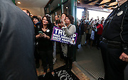 Supporters wait to meet Republican presidential candidate Donald Trump after a town hall meeting at the Atkinson Country Club in Atkinson, N.H., Monday, Oct. 26, 2015.  (AP Photo/Cheryl Senter)