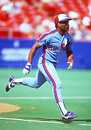 ST. LOUIS - UNDATED:  Tim Raines of the Montreal Expos runs the bases during an MLB game versus the St. Louis Cardinals at Busch Stadium in St. Louis, Missouri.  Raines played for the Expos from 1979-1990. (Photo by Ron Vesely)  Subject:  Tim Raines