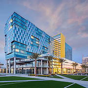 John Portman & Associates Architects, Hensel Phelps, Sunset Glazing, AIG Global Real Estate, Lane Field Marriott, San Diego, California, Lane Field, Rob Lankford Developer, Springhill Suites, Residence Inn, John Durant Photographer, Architectural Photography, Hospitality Design, Hotel Design, Hotel Architecture, San Diego Harbor San Diego Architectural Photographer, Southern California Architectural Photographer