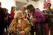Gillian Ayres; Shani rhys James, Opening reception of the Jerwood Gallery. The Stade, Hastings. 16 March 2012.