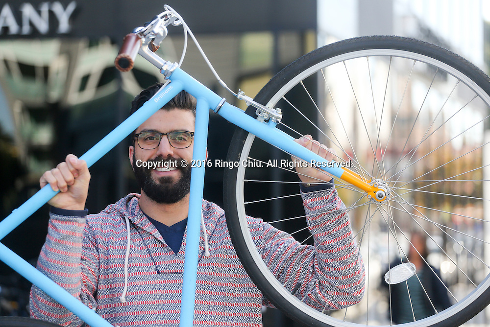 Adam Kalamchi, co-founder and chief executive of Brilliant Bicycle Co. <br /> <br />  (Photo by Ringo Chiu/PHOTOFORMULA.com)<br /> <br /> Usage Notes: This content is intended for editorial use only. For other uses, additional clearances may be required.
