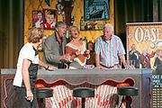 ROTTERDAM, THE NETHERLANDS. 2017, AUGUST 29. Ron Brandsteder, Joke Bruijs and Gerard Cox at the press conference of De Oase Bar geeft een Feestje at Walhalla.