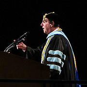 Wilmington University President Jack P. Varsalona, Ed. D. addresses students during Wilmington University commencement exercise Sunday, May 17, 2015, at Chase Center On The Riverfront in Wilmington Delaware.