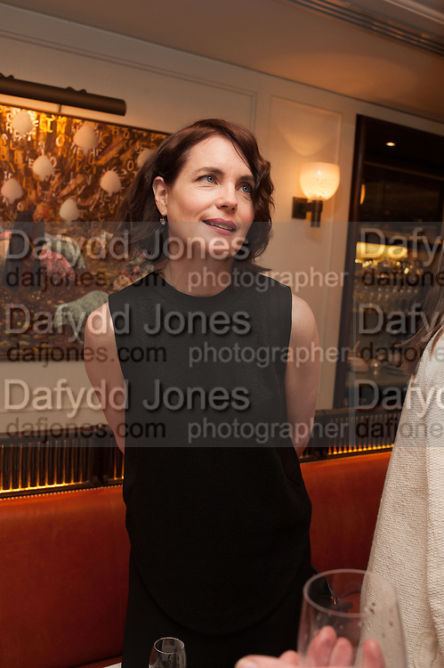 ELIZABETH MCGOVERN, Vanity Fair Lunch hosted by Graydon Carter. 34 Grosvenor Sq. London. 14 May 2013