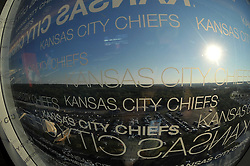 Aug 25, 2010; Kansas City, MO, USA; General view from outside of the press area of the newly renovated Arrowhead Stadium before a  practice session at Arrowhead Stadium. Mandatory Credit: Denny Medley-US PRESSWIRE