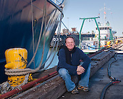 David Mann, biological oceanographer, in the Port of Tampa.